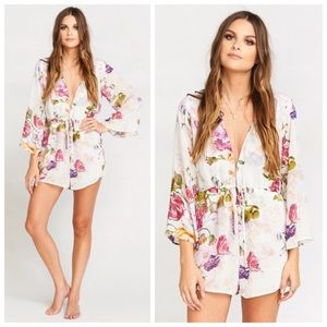 New XS Show Me Your Mumu floral romper